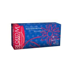 Blossom Soft Nitrile Powder-Free Textured DARK BLUE Exam Gloves